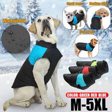 Vestiti Giacca Per Cani Cappotto Impermeabile Antipioggia Inverno Caldo M-5XL