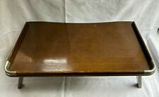 More details for retro vintage laptop breakfast bed wooden folding tray table 1960s