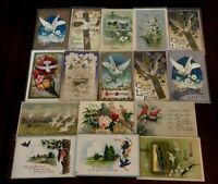 Lot of 16 Easter Holiday~Vintage~Postcards with Pretty Birds~b918