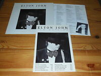 ELTON JOHN - ICE ON FIRE / GERMANY-LP 1985 MINT- & PRESSE-MAPPE