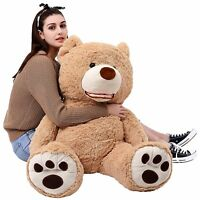 Giant Teddy Bear with Big Footprints Plush Stuffed Animals Light Brown Plush Toy