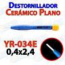 Destornillador PLANO ceramica YR-034E 0,4x2,4 ajuste pololu 3D mini ceramico