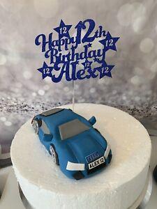 Edible LARGE AUDI R8  Cake Decoration Cake Topper. Cars Men's Birthdays