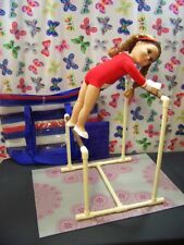 UNEVEN BARS GYMNASTIC SET fits American Girl Doll & all 18
