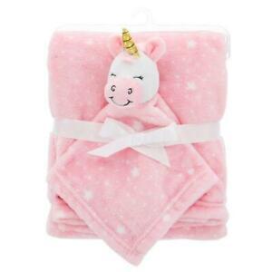 Star Unicorn Soft Girl Fleece Baby Blanket Gift Set : Unicorn Baby Blankets