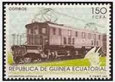 Timbre Trains Locomotive électrique Guinée équatoriale 278 ** lot 24577