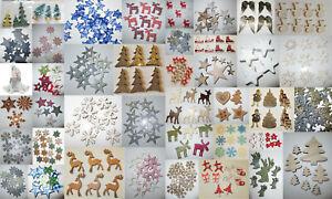 Streuteile Weihnachten Holzstreuer Schneeflocken Streudeko Streuelemente