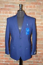 40 S SLIM FIT STUDIO 18  BRAND NEW MENS NAVY BLUE WINDOW PANE 2 BUTTON SUIT