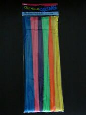 """100 PCS CHENILE STEMS """"Pipe Cleaners"""" Neon & Jewel Assorted"""