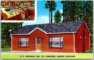 """Concord, North Carolina Postcard """"TOWEL SHOP"""" Store Interior Route 8 Roadside"""