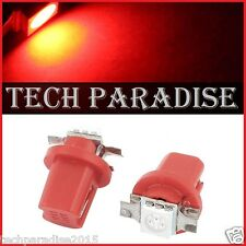1x Ampoule B8.5D BX8.5D BAX10D ( T5 sur culot ) LED SMD Rouge Red Neo Wedge