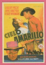 Spanish Pocket Calendar #253 Yellow Sky Film Poster Gregory Peck Anne Baxter