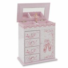 Little Girl's First Musical Ballet Slippers Jewelry Box Ballerina Organizer
