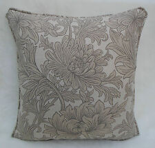 William Morris Fabric Cushion Cover 'Chrysanthemum Toile' Linen Mix Sisal/Canvas
