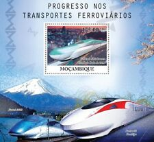 SHINKANSEN High Speed Trains of Japan Railway Stamp Sheet #2 (2010 Mozambique)