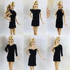 6 * Handmade Vintage Little Black Dress/Outfit For Barbie Doll best collection