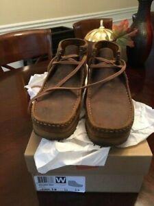CLARKS ORIGINALS WALLABEES Mens 9.0 Bronze Shoes Boots 16050