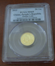 China 2011 Gold 1/10 oz Panda 50 Yuan PCGS MS69
