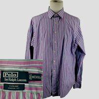 Polo Ralph Lauren Curham~New~Men's XXL Shirt~2XL~Classic~Purple~L/S Button Down