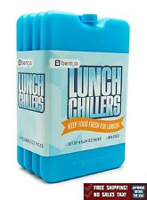 Four Ice Packs For Coolers And Lunch Boxes Freezer Home Lunch Chillers Blue New