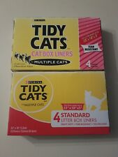 Lot of 2 Tidy Cats Standard Size 22 x 30 Litter Box Liners 8 Total