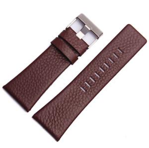 30mm Brown Leather Lychee Strap For Diesel DZ7313 DZ7322 DZ7257 Watch L168