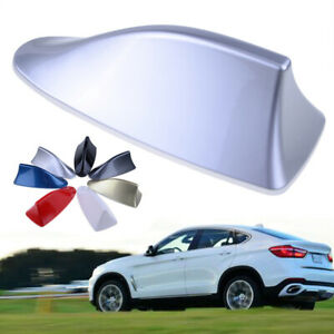 1x Shark Fin Car Exterior Decoration Dummy Antenna Top Roof Cover Mounted Silver