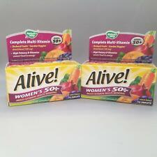 Nature's Way Alive! Women's 50+ Multi-Vitamin-Multi-Mineral 50ct 2PK Exp 12/20+