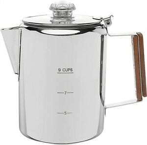 COLETTI Bozeman Coffee Pot   Coffee Percolator   Stainless Steel Coffee Maker