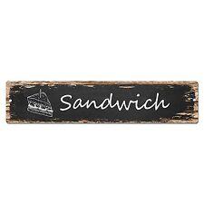 SP0026 Sandwich Street Sign Bar Store Shop Pub Cafe Home Room Shabby Chic Decor