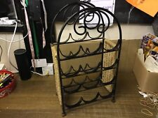 Vintage Style Black Heavy Metal Wine Rack 9 Bottle Holder Storage