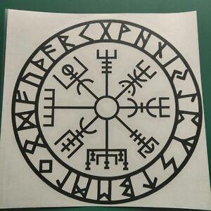Vegvisir Viking Compass Runic design - Vinyl Decal Sticker