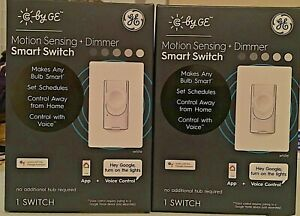 2 PACK C by GE Smart Wall On / Off Motion Sensing Dimmer Switch Brand New Sealed