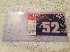 NEW ENGLAND PATRIOTS GAME TICKET NOVEMBER 19, 2000 FOXBORO STADIUM VS BENGALS