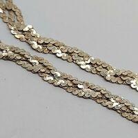 """Sterling silver solid 925 bracelet chain bangle Az965  7"""" unique plait style ."""
