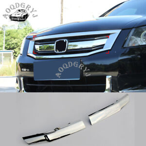 ABS Chrome Front Grill Insert Cover Trim For Honda Accord 4DR sedan 2008-2010