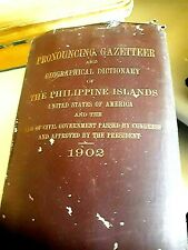 "LIBRARY OF COL. W.C.TAYLOR, 1902 ""A PRONOUNCING GAZETTEER OF PHILIPPINE ISLANDS"""