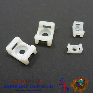 Screw Cradle Cable Tie Mount Clip Wire Saddle Base Clamps Holder White