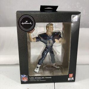 NFL Los Angeles LA RAMS Jared Goff 16 QB Hallmark 2020 Christmas Ornament NEW