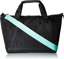 Adidas Studio II Duffel Tote Bag, Black/Black/Easy Green, One Size