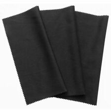 3x microfiber cleaning cloth 20x19cm, black cloths, touchscreen, smartphone diF4