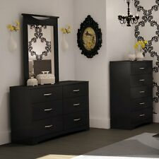 Step One 6-Drawer Dresser - Black, Dresser + Mirror