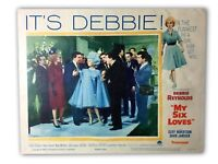 """MY SIX LOVES"" ORIGINAL 11X14 AUTHENTIC LOBBY CARD POSTER PHOTO 1963 REYNOLDS"