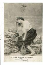 CPA-Carte Postale--Belgique- Jeune dame avec son luth Les regrets de Mignon.en 1