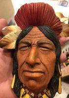 Vintage bossons head chalkware Tecumseh Famous Shawnee Chief