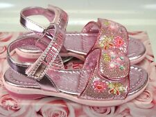 Girls Lelli Kelly Pink Alexandra LK4472 Glitter Sandals US 11 /UK 29 Retail $69
