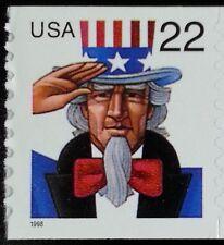 1998 22c Uncle Sam Coil, SA Scott 3263 Mint F/VF NH