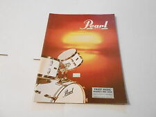 VINTAGE MUSICAL INSTRUMENT CATALOG #10062 - 1970s PEARL DRUM CATALOG