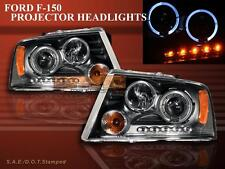 2004-2008 Ford F150 / 06-08 Lincoln Mark LT 2Halo LED Projector Headlights Black