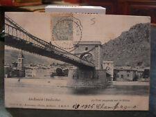 cpa 07 andance pont suspendu sur le rhone